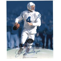 1997 Leaf Authentic Signatures 8x10 Card Jim Harbaugh Indianapolis Colts Auto