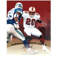 1997 Leaf Authentic Signatures 8x10 Card Garrison Hearst 49ers Auto