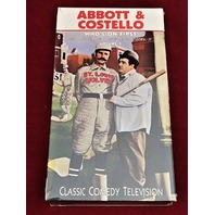 Abbott & Costello Who's On First B/W VHS 1990 Classic Comedy TV Baseball NEW