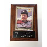 1992 Maxx Alan Kulwicki McDonald's All-Star Race Team Card On 4x6 Plaque