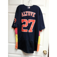 Majestic FlexBase Houston Astros #27 Jose Altuve Jersey Men's Size 40 MLB