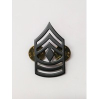 Vanguard Army First Sergeant Chevron Black Subdued Metal Rank Insignia - 1 Pin