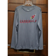 NFL Team Apparel Gray Arizona Cardinals Athletic Long Sleeve Shirt Size M