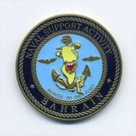 """US Navy USN Challenge Coin Naval Support Activity Bahrain 1.75"""""""