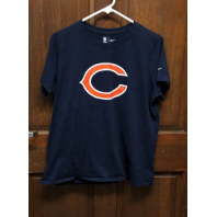NFL Team Apparel Athletic Cut Chicago Bears Navy Blue T-Shirt Womens XXL 2XL