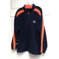 NFL Team Apparel Chicago Bears 1/2 Zip Pullover Fleece Jacket Sz M Football