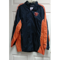 NFL Chicago Bears Navy Blue & Orange Full Zip Jacket Size M Football NWT