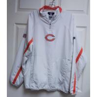 Reebok RBK Authentic Sideline White Chicago Bears 1/4 Zip Pullover Jacket Sz M