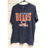 NFL Team Apparel Heather Navy Blue Chicago Bears Graphic T-Shirt Sz XL Football