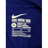 Nike Tee Athletic Cut Blue Buffalo Bills Short Sleeve T-Shirt Men's Size XL