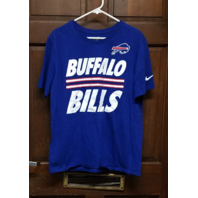 Nike Tee Athletic Cut Blue Buffalo Bills Short Sleeve T-Shirt Men's Size XL