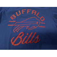Majestic Fan Fashion Blue Buffalo Bills T-Shirt Women's Size L NFL Football NWT