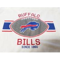 NFL Team Apparel Longer Length White Buffalo Bills Mesh Shirt Jersey Womens XL