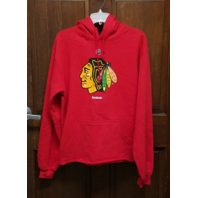 Reebok NHL Chicago Blackhawks Red Hoodie Jacket Men's Size M Medium