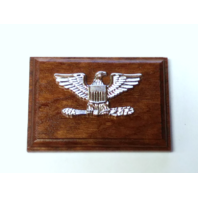 USN USCG Captain USMC Colonel Coat Device Rank Insignia Mounted On Wood