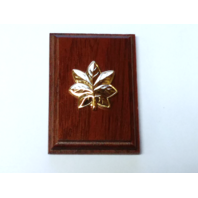 USN USCG Lieutenant Commander LCDR Coat Device Rank Insignia Mounted On Wood