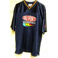 Chase Authentics NASCAR Jeff Gordon 24 Dupont Navy Blue Mesh Shirt Size L
