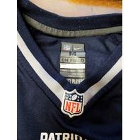 NFL Players On Field Tom Brady New England Patriots Jersey Shirt Youth Size M