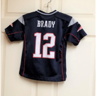 NFL Players On Field Tom Brady New England Patriots Jersey Shirt Youth Size M