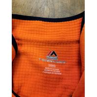 Majestic Grid Tech ThermaBase Orange Denver Broncos 1/4 Zip Jacket Men's M NWT