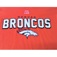 NFL Team Apparel Orange Denver Broncos T-Shirt Men's Size L Football NWT