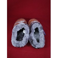 Forever Collectibles Denver Broncos Slide Mule Fuzzy Slippers Womens L 9-10