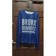 MLB Genuine Merchandise New York Yankees Bronx Bombers Long Sleeve Shirt Size M