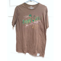 E FIVE Brown Notre Dame Fightin' Irish '42 T-Shirt Distressed Logo Sz M NCAA