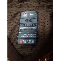 NFL Players NFL On Field Cleveland Browns #2 Brown Jersey Shirt Men's Size 44