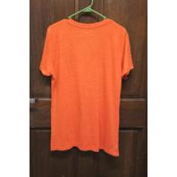 Fanatics Cleveland Browns Elf Logo Orange V-Neck T-Shirt Womens Size XL NWT