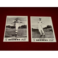 Cleveland Browns 12 Card Set 1949 Sohio Photo Reprints Team Issued Lavelli