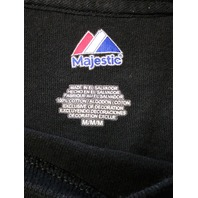 Majestic Black Boston Bruins Graphic T-Shirt Men's Size M NHL Hockey