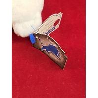 Limited Treasures Barry Sanders #20 White Beanie Plush Bear #1380/12500 Lions