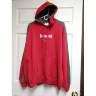 NFL Red & Gray Tampa Bay Buccaneers Pullover Hoodie Size L Football