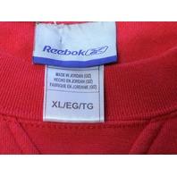 Reebok Red Tampa Bay Buccaneers Sweatshirt Men's Size XL Football NFL
