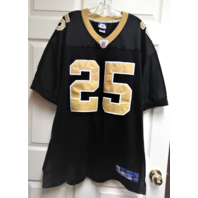 Reebok NFL Equipment Reggie Bush #25 Black Gold New Orleans Saints Jersey Sz 54