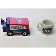 1997 White Rose Collectibles Fredericton Canadiens Zamboni & Canadiens Mini Mug