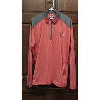 NHL Washington Capitals Light Red & Gray 1/4 Zip Pullover Jacket Men's Size XL