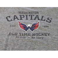 Old Time Hockey Gray Washington Capitals Graphic T-Shirt Size L NHL