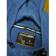NHL Hockey Rules Washington Capitals Blue Pullover Fleece Hoodie Jacket Size L