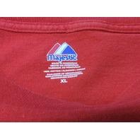 Majestic Red Washington Capitals Graphic T-Shirt Size XL NHL Hockey