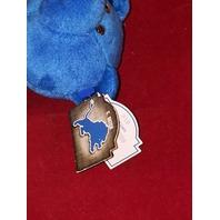 Limited Treasures Charlie Batch #10 Blue Beanie Plush Bear #4727 Detroit Lions