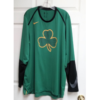 NBA Boston Celtics Long Sleeve Dri-Fit Performance Shirt Green & Black Size XL
