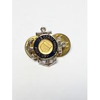 USCG COAST GUARD AUXILIARY Lapel Pin Tie Tac Silver Tone