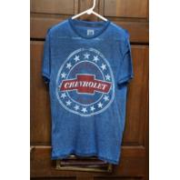 Chevrolet Racing Blue Graphic T-Shirt Tee Men's Size M Medium