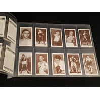 1938 Churchman BOXING PERSONALITIES Complete 50 Card Set Joe Louis Dempsey