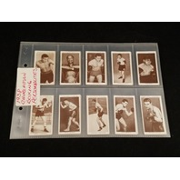 1938 Churchman BOXING PERSONALITIES Complete 50 Card Set Joe Louis Dempsey