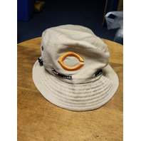 Unbranded Khaki Chicago Bears Sport Bucket Hat Orange Logo Emblem Football