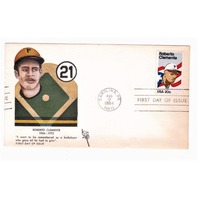 US 1984 Roberto Clemente First Day Cover Envelope & 20c Stamp