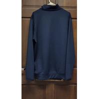 Antigua Navy Blue Cleveland Indians Guardians 1/4 Pullover Jacket Men's Size L